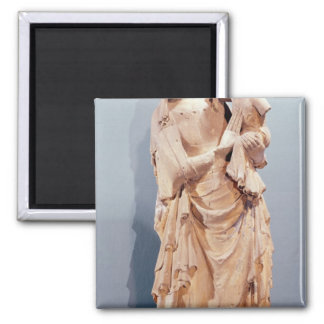 Virgin and Child Square Magnet