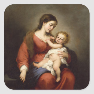 Virgin and Child Square Sticker