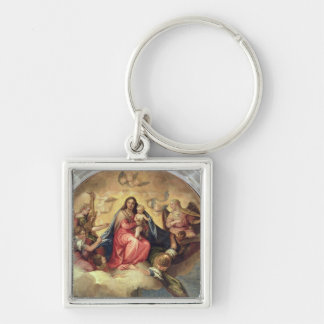 Virgin and Child with angel musicians Key Chain