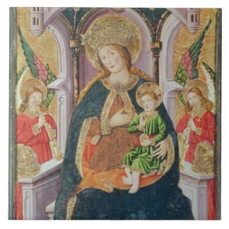 Virgin and Child with Angel Musicians Large Square Tile