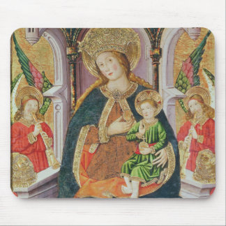 Virgin and Child with Angel Musicians Mouse Pad