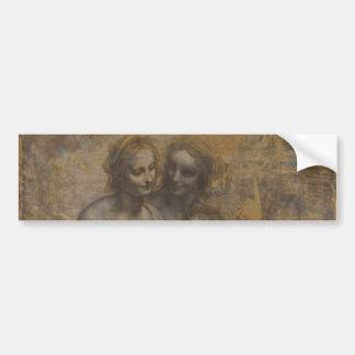 Virgin and Child with St Anne by Leonardo da Vinci Bumper Sticker