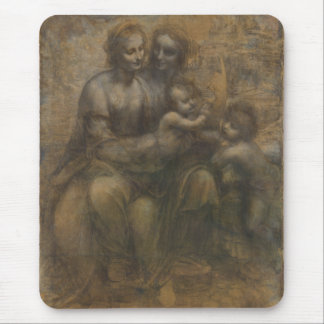 Virgin and Child with St Anne by Leonardo da Vinci Mouse Pad