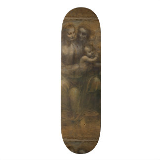Virgin and Child with St Anne by Leonardo da Vinci Skateboard Deck