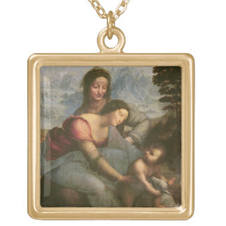 Virgin and Child with St. Anne, c.1510 Gold Plated Necklace