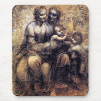 Virgin and Child with St. Anne sketch Mouse Pad
