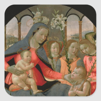 Virgin and Child with St. John the Baptist Square Sticker