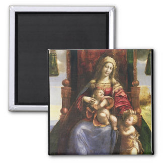 Virgin and Child with the infant St. John Fridge Magnets