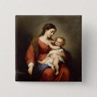 Virgin and Christ Child 15 Cm Square Badge