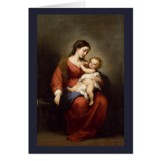 Virgin and Christ Child Card