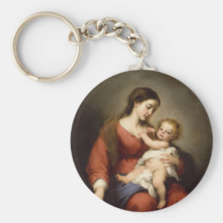Virgin and Christ Child Key Ring