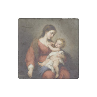 Virgin and Christ Child Stone Magnet