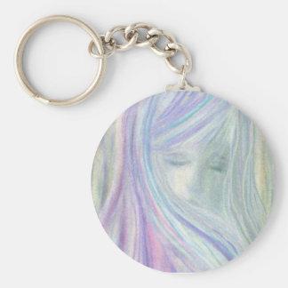 Virgin Basic Round Button Key Ring