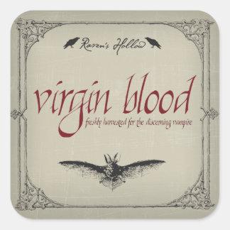 Virgin Blood Halloween Jar Sticker Label