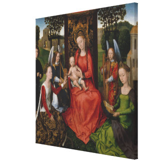Virgin & Child with Saints Catherine of Alexandria Canvas Print