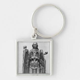 Virgin , early 15th century Silver-Colored square key ring