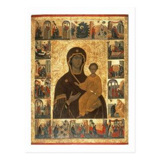 Virgin Hodegetria Icon of Smolensk, c.1450 (temper Postcard