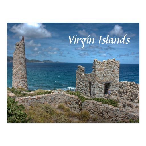 Virgin Islands Castle Postcard