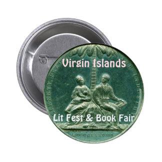 Virgin Islands Lit Fest & Book Fair 6 Cm Round Badge