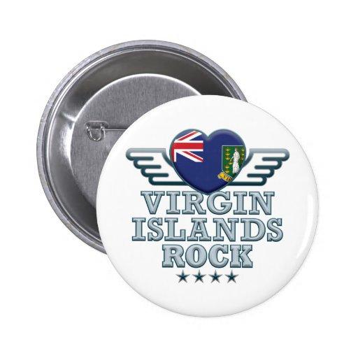 Virgin Islands Rock v2 Pinback Button