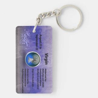 Virgin keychain blue roi Double-Sided rectangular acrylic keychain