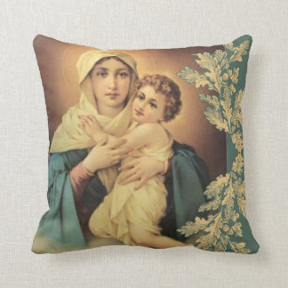 Virgin Madonna Mary with Baby Jesus Cushion