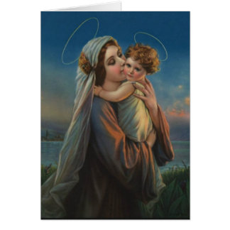 Virgin Madonna Mary with Christ Child Jesus Card