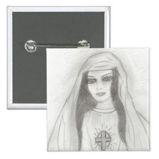 Virgin Mary 15 Cm Square Badge