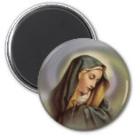 Virgin Mary 2 6 Cm Round Magnet