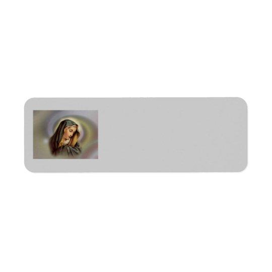Virgin Mary 2 Avery Label Return Address Label