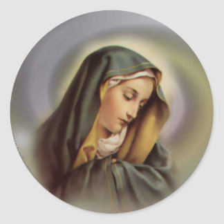 Virgin Mary 2 Classic Round Sticker