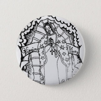Virgin Mary 6 Cm Round Badge