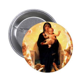 Virgin Mary 6 Cm Round Badge