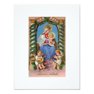 Virgin Mary and Baby Jesus 11 Cm X 14 Cm Invitation Card