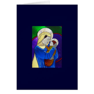 Virgin Mary and Child Note Card