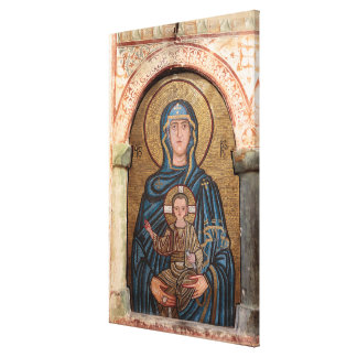 Virgin Mary And Jesus Mosaic Canvas Print