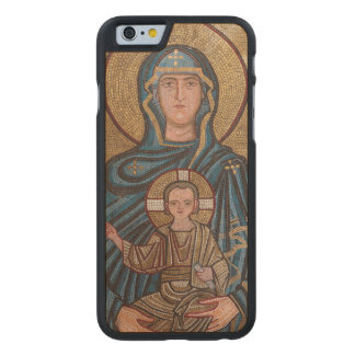 Virgin Mary And Jesus Mosaic Carved Maple iPhone 6 Case