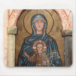 Virgin Mary And Jesus Mosaic Mouse Pad