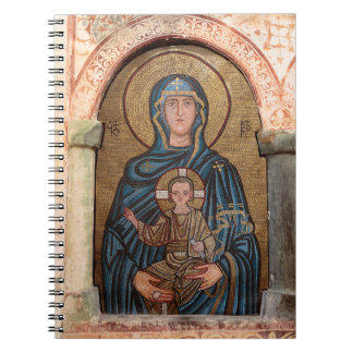 Virgin Mary And Jesus Mosaic Notebooks