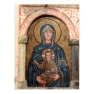 Virgin Mary And Jesus Mosaic Postcard