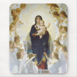 Virgin Mary and Jesus with angels Mouse Pad