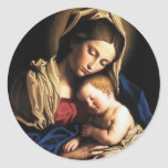 Virgin Mary Assumption Classic Round Sticker