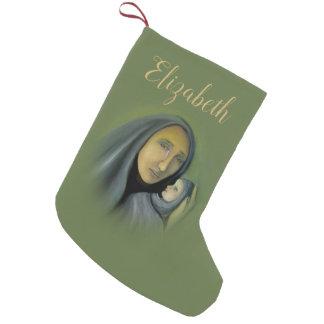 Virgin Mary  Baby Jesus Religious Christmas Name Small Christmas Stocking