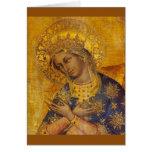 Virgin Mary Blank Card