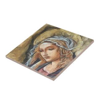 Virgin Mary Ceramic Tile