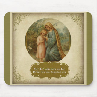 Virgin Mary & Child Jesus Mouse Pad