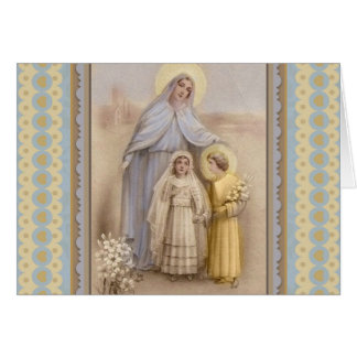Virgin Mary Christ First Holy Communion Card