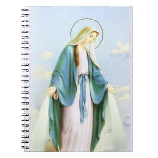 Virgin Mary Crescent Moon Notebook