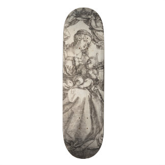 Virgin Mary Crowned by Two Angels by Durer Skateboard Deck