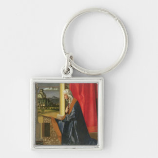 Virgin Mary, from The Annunciation diptych (oil on Keychain